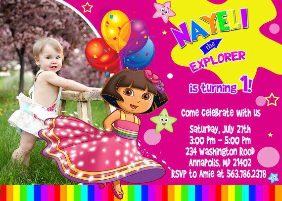 73 best Dora The Explorer Party images – Dora the Explorer Party Invitations