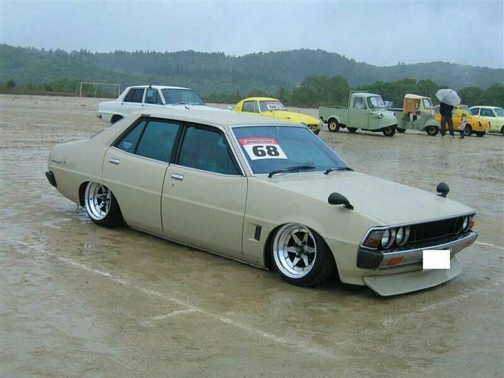 Slammed Mitsubishi Galant.