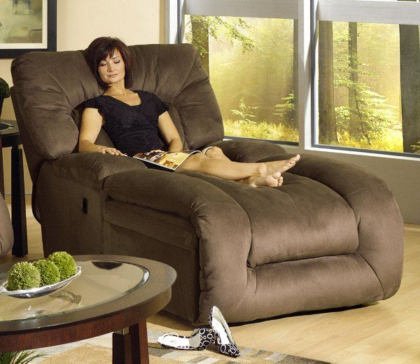 Jackpot Reclining Chaise in Sage Microfiber Fabric by Catnapper
