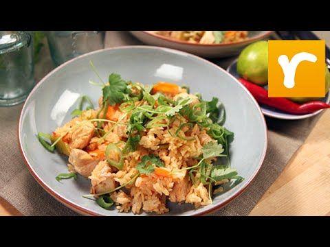 Sötsur chilikyckling med stekt ris (kock Tommy Myllymäki)