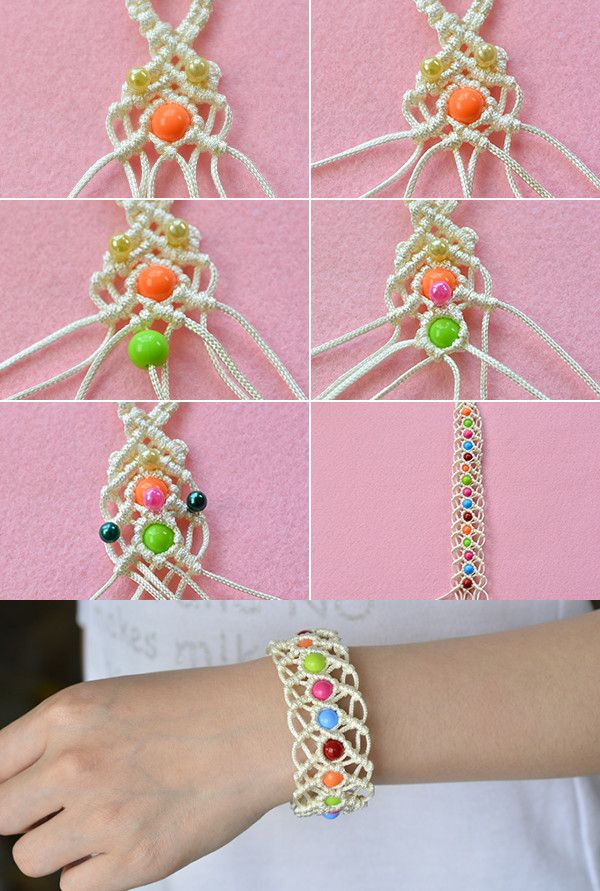 Beads and thread bracelet, like it? LC.Pandahall.com will release the tutorial soon.   #pandahall