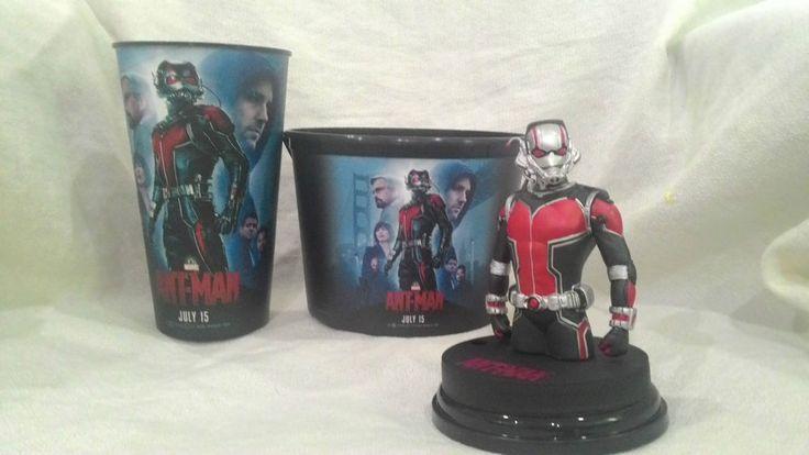 Marvel ANT MAN Cinema Movie Topper + CUP + Popcorn Bucket 85 OZ.HOT !!!!!  | eBay