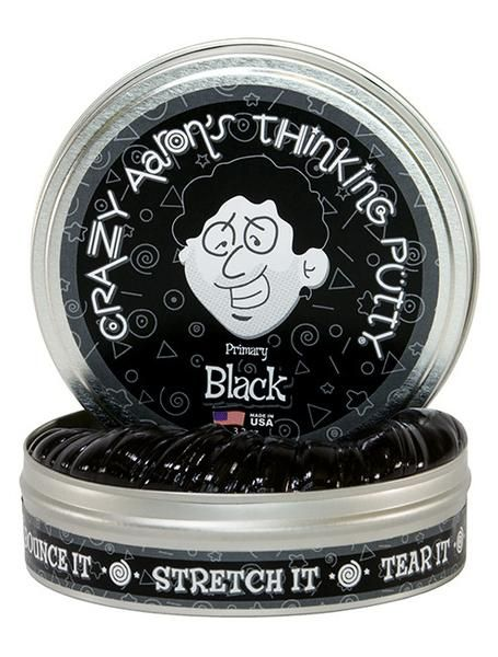Crazy Aaron's Thinking Putty // Primary Black