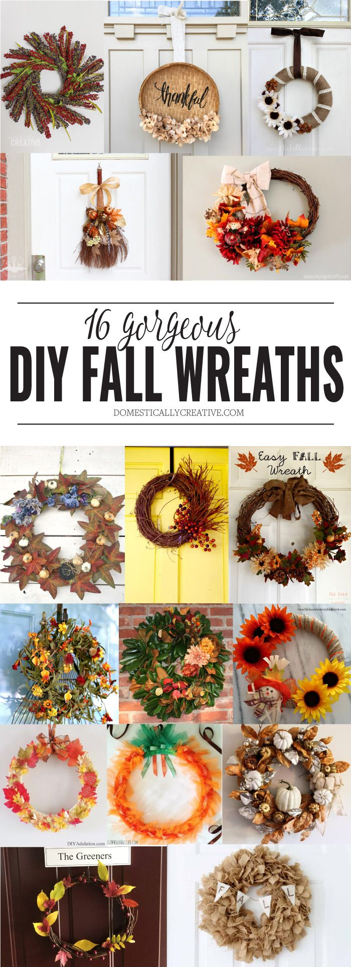 16 gorgeous DIY fall wreaths