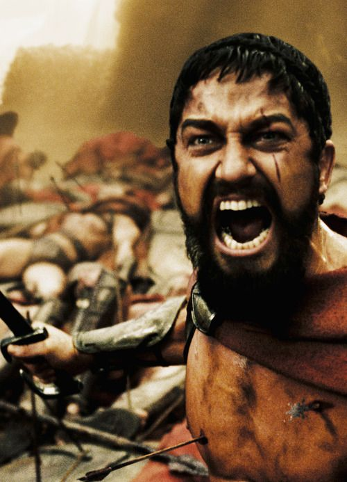 Gerard Butler in 300. Just re-watched this film tonight. Still as awesome and classic as ever! So exited for #2 in March!