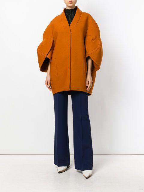 Visibly Interesting: Delpozo three-quarter sleeve structured jacket
