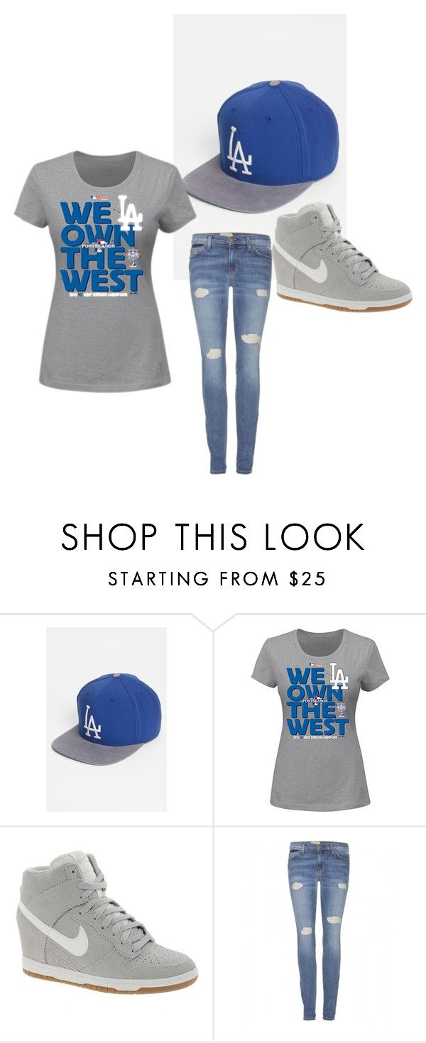 """Dodger outfit"" by i4gotmyadres ❤ liked on Polyvore featuring American Needle, NIKE and Current/Elliott"