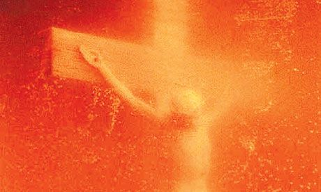 Andres Serrano's controversial Piss Christ goes on view in New York