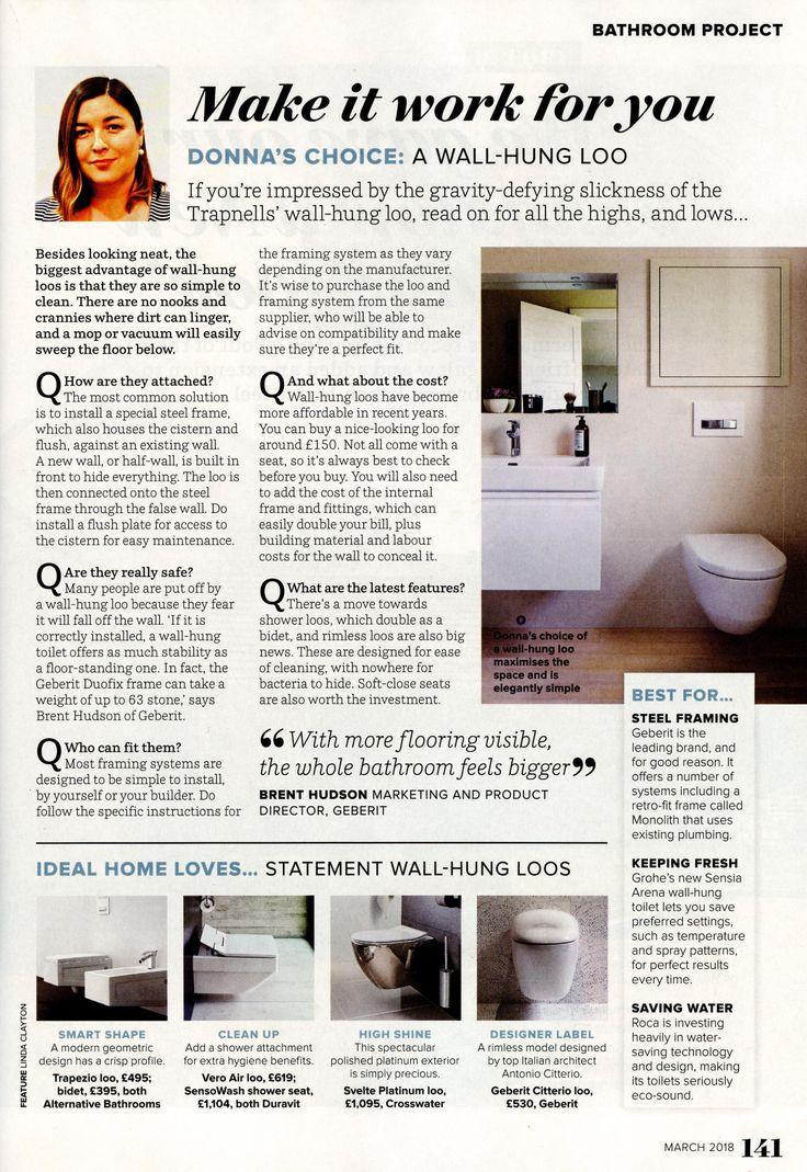 The Trapezio loo from Alternative Bathrooms. alternativebathrooms.com Ideal Home March 2018
