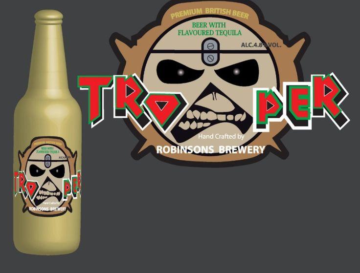 Releitura do rótulo da cerveja artesanal Trooper, da banda de Iron Maiden #Tequila