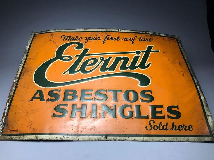 Rare Eternit Asbestos Shingles Embossed Tin Litho Sign 1940s  | eBay