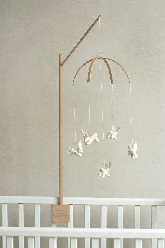 baby crib mobile holder / wooden mobile arm / baby by Patricija - Top 25+ Best Crib Mobiles Ideas On Pinterest Baby Crib Mobile