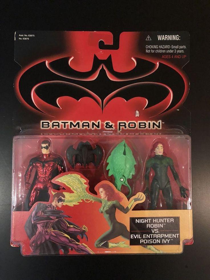 Batman /& Robin Night Hunter Robin VS Evil Entrapment Poison Ivy action Figures