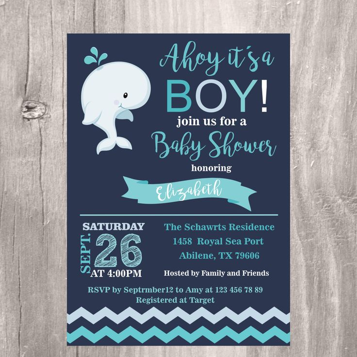 boy baby shower invitations australia%0A Whale Baby Shower Invitation  Nautical Baby Shower Invite  Personalized  Navy and Turquoise Baby Shower