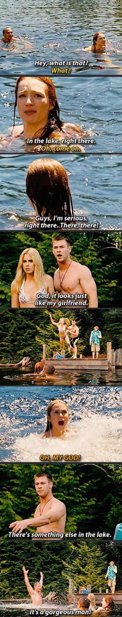 i feel like chris hemsworth does this every time he is at a lake or pool. if he doesnt he should.