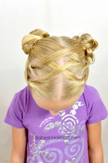 Hot Cross Buns Hairstyle from BabesInHairland.com