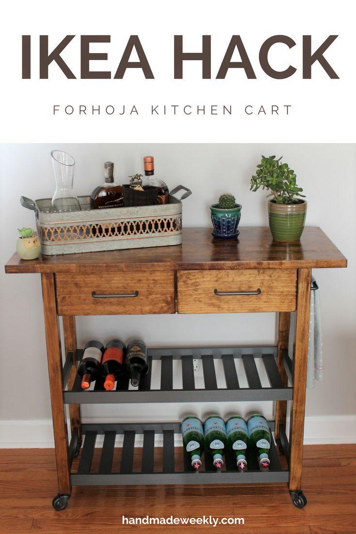Ikea Forhoja Kitchen Cart Hack Ikea Forhoja Ikea Kitchen Cart