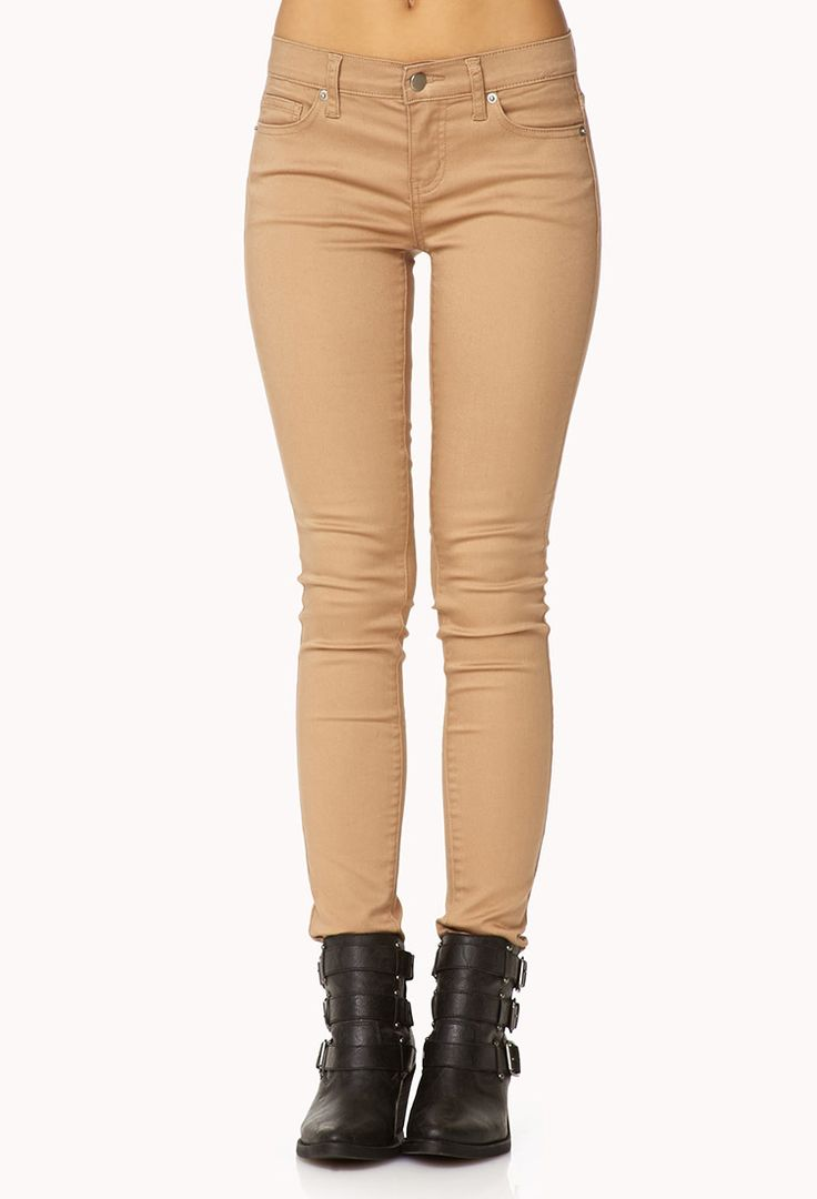 17 best ideas about Khaki Skinny Jeans on Pinterest | Tan pants ...