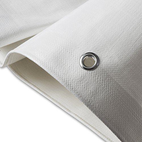 Bâche de protection casa pura® en polyéthylène | haute densité 90g/m² | 100% imperméable à l'eau et aux UV | blanc: DURABLE : structure…