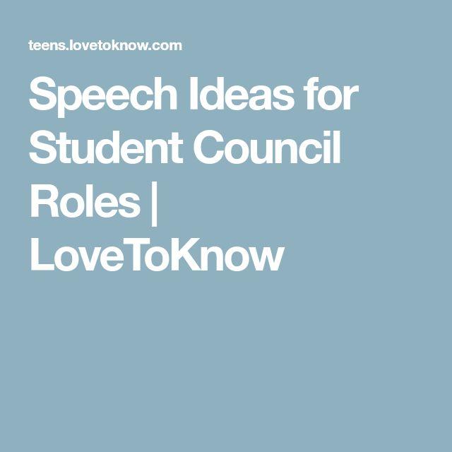 Best  Student Council Speech Ideas On   Leadership