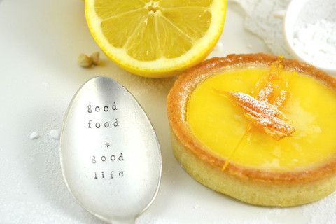Pretty Little Silver - 'Good Food * Good Life' Personalised Hand Stamped Vintage Spoon £12 www.prettylittlesilver.co.uk