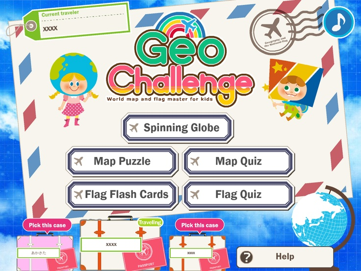 """""""Geo Challenge! World Map and Flag Master for Kids"""" is a fun educational app designed to teach kids in a fun way about world geography and cultures around the world. Targeted at kids from kindergarten to elementary school, it contains authentic and comprehensive educational content sourced from the 193 countries of the United Nations. http://sumahomama.com/geochallenge/en/"""