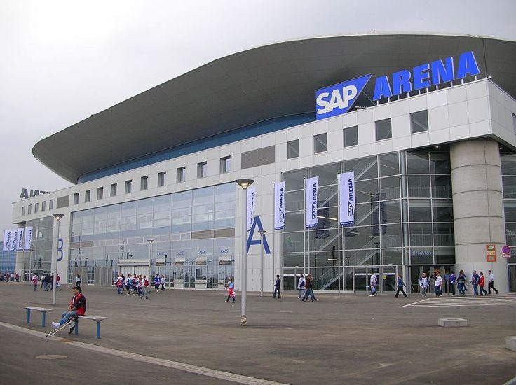 Die SAP Arena - Heimspiestätte der Adler Mannheim