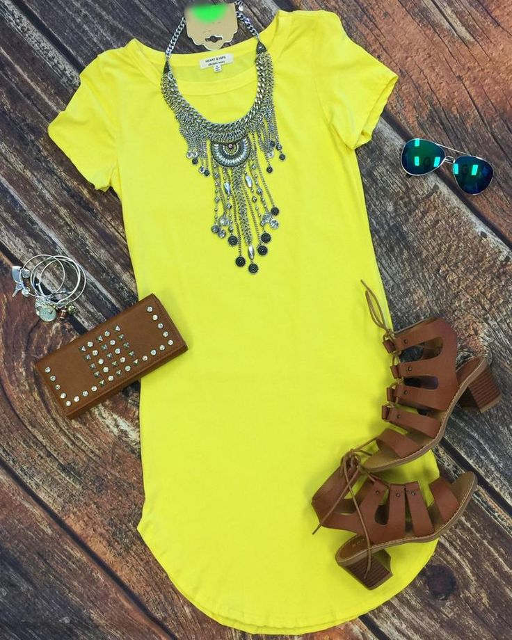 Fun in the Sun Tunic Dress: Yellow