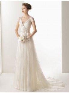 Court Train A Line Wedding Dress