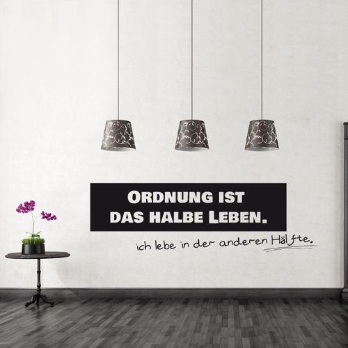 Wandtattoo - Ordnung #wallsticker #art #sticker #aufkleber #wand #wandaufkleber #wandtattoo #deko #humor #ordnung #organize #leben #chaos #spruch #sprüche #contctpaper #klebeschrift #klebebuchstaben #home #inspiration #idee