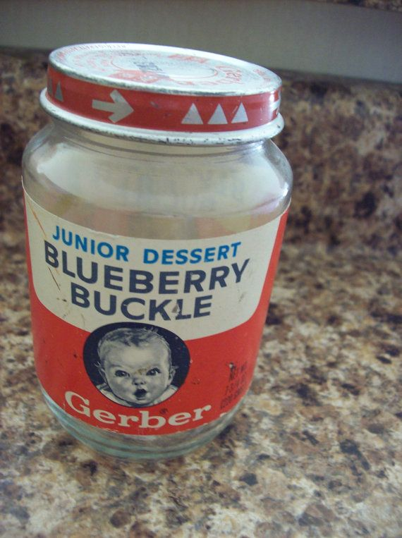 Blueberry Buckle Baby Food | Gerber - My sister and I used to get these and eat them even though they were for our youngest (baby) sister. ~ Sorry, She-She! :-D. Soooo good!