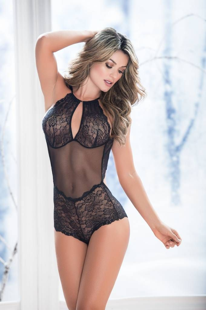 25c1fbd2d5b4b Unleash the sexiness with our Lisa Lace Teddy featuring a high neck