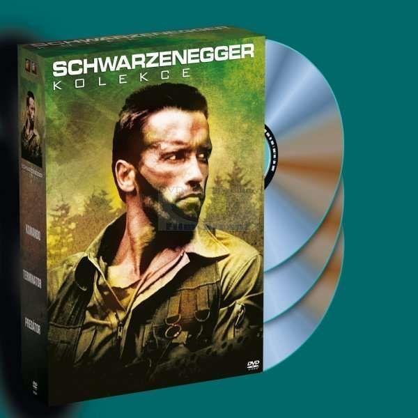 Kolekce obsahuje filmy Terminátor, Predátor a Komando.TerminátorObsah filmu:Arnold Schwarzenegger se představuje vroli nejkrutějšího a nejhouževnatějšího stroje na zabíjení, který kdy hrozil vyhubením lidstva!Nezničitelný kyborg — Terminátor (Schwarzenegger) —je vyslán zpátky včase, aby zabil Sarah Connor (Linda Hamilton), ženu, jejíž nenarozený syn se stane jedinou nadějí lidstva vbudoucí válce proti strojům. Legendární sci-fi thriller od novátorského scenáristy a režiséra Jamese…