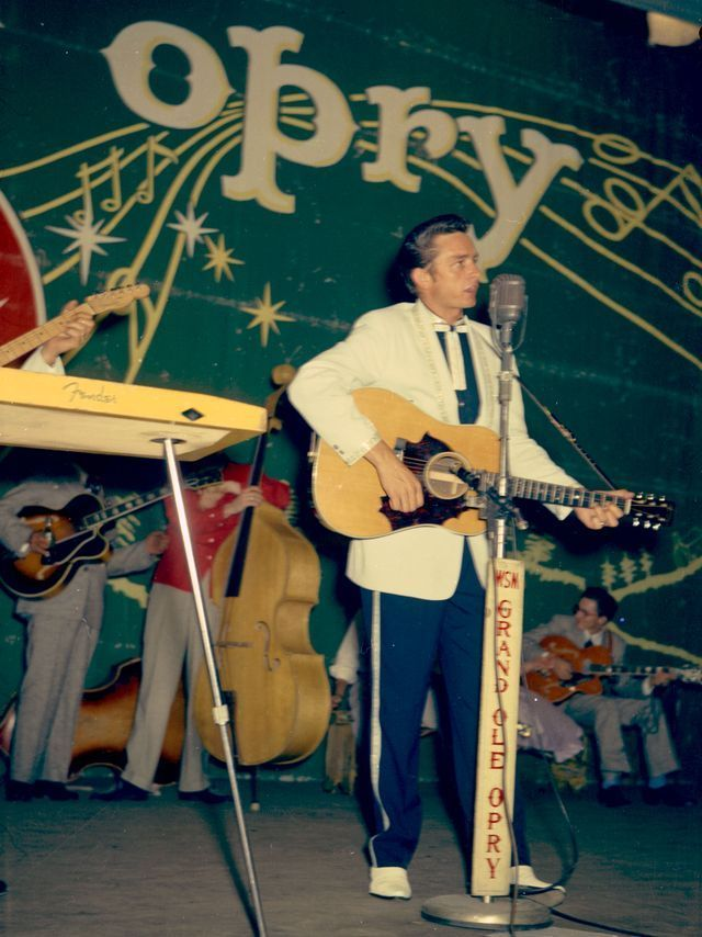 See rare 1950s color photos of Johnny Cash on the Opry