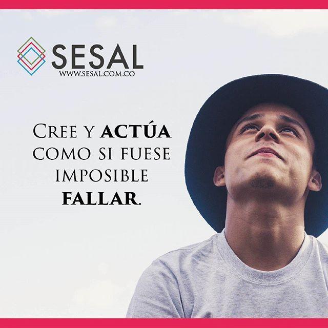 Cree y actúa como si fuese imposible fallar.-Charles Kettering. #sesal #marketing #venezuela #colombia #españa #venezolanosencolombia #marketing #marketingdigital #creamostuempresa #emprende #ssl#salud #empresas #sisepuede