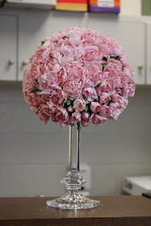 Carnation topiary and instructions here.
