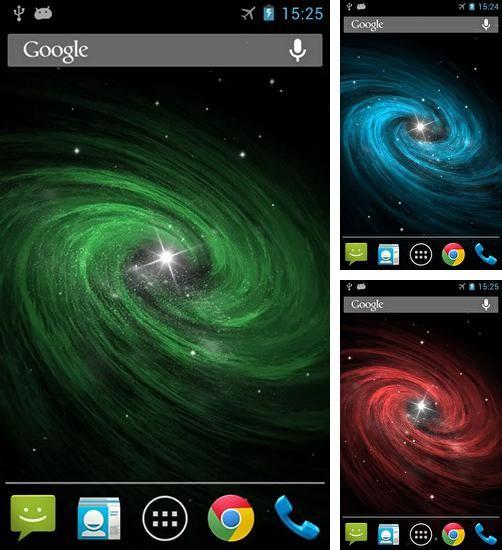 Fondos de pantalla animados a Galaxy by Wasabi para Android. Descarga gratuita fondos de pantalla animados Galaxia.