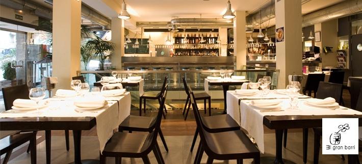 El Gran Barril: Restaurante, barra de tapeo y lonja de pescado de alto nivel con decoración vanguardista