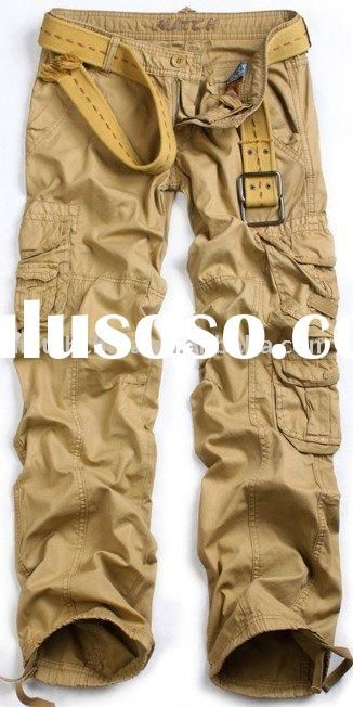 Matchic multi-pockets women's baggy cargo pants khaki cargo pants for women