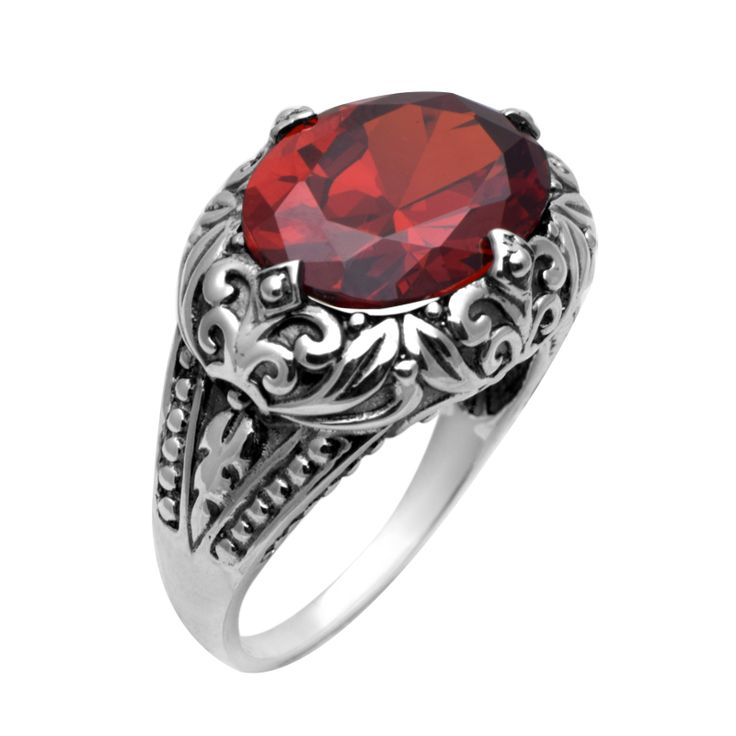 szjinao 925 sterling silver jewelry processing bohemian garnet wedding ring 925 sterling silver engagement rings for - Garnet Wedding Rings