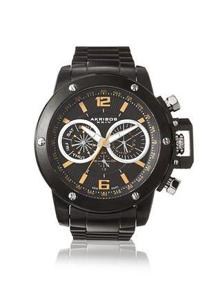 85% OFF Akribos XXIV Men's AK604BK Black Stainless Steel Watch