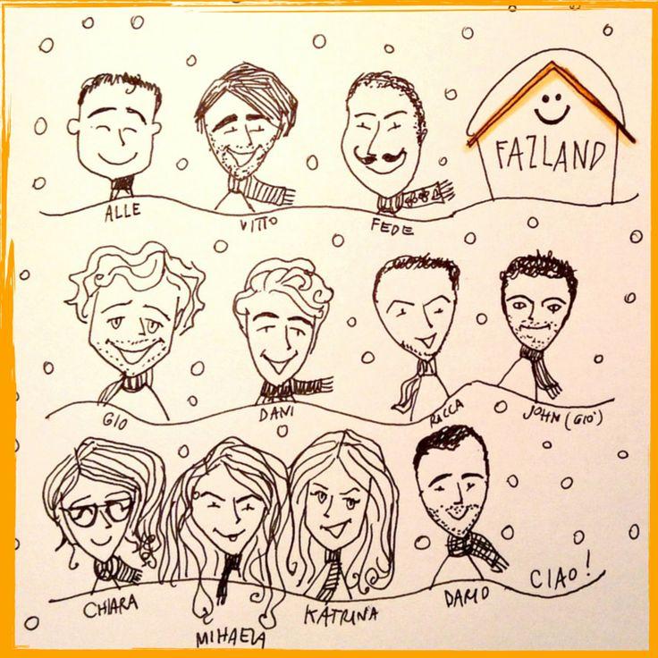 #Fazland #team edizione Febbraio 2015! https://www.fazland.com/chi-siamo  #startup #home #artwork #illustration