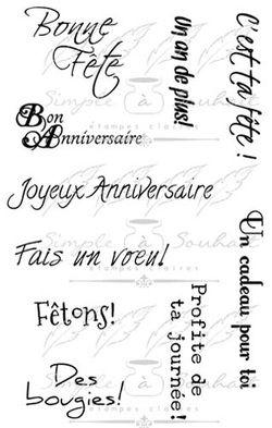 Les étampes Simple à Souhait Collection Bonne Fête (011E) http://www.simpleasouhait.com/anniversaire.html