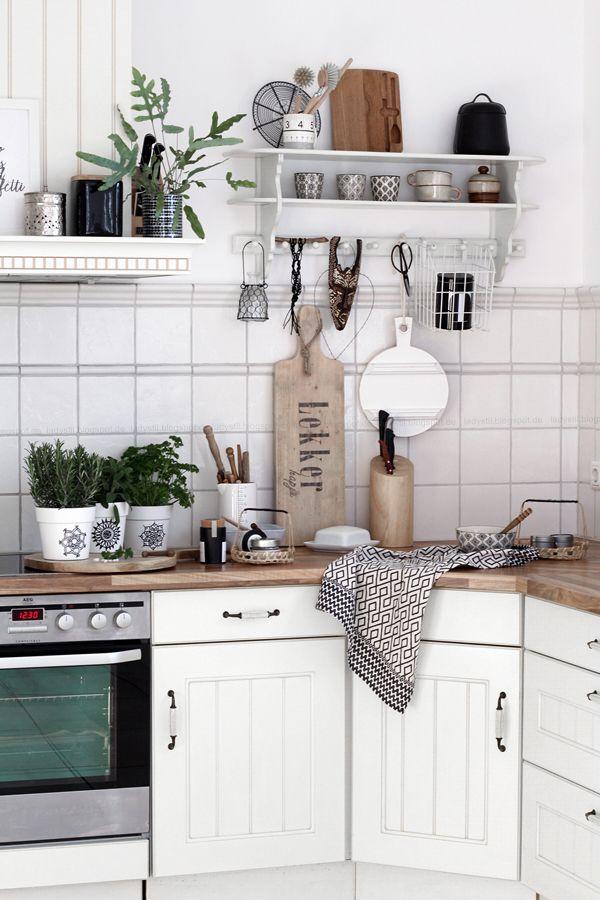 17 beste ideer om Weiße Küche Gestalten på Pinterest U küche mit - alte küche streichen