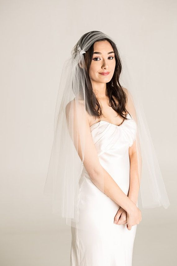 HEADPIECE Juliet Cap Veil Chiffon Veil Wedding Veil by Juniperandgrace