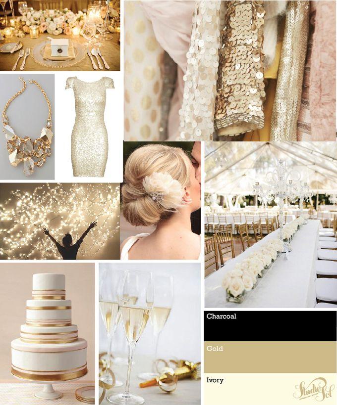 Studio Sol Invitations and Design Dubai: Mbali & Ainsley Ivory & Gold Wedding Invites