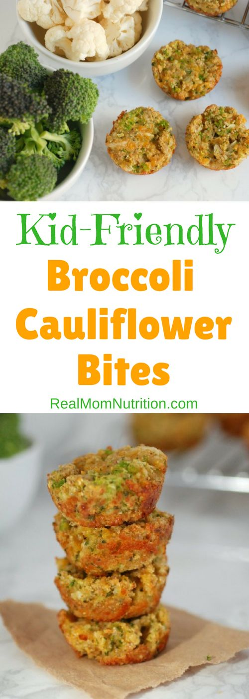 Broccoli and Cauliflower Bites via @https://www.pinterest.com/rmnutrition/