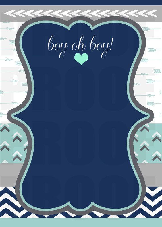 Bow Arrow Baby Shower Invitation Blank Template Boy Baby Shower Invitations Templates Blank Baby Shower Invitations Baby Shower Invitations