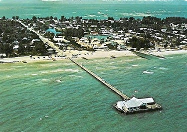 A long walk into the Gulf of Mexico, but well worth it.  Food, drinks, bait, music... FUN!