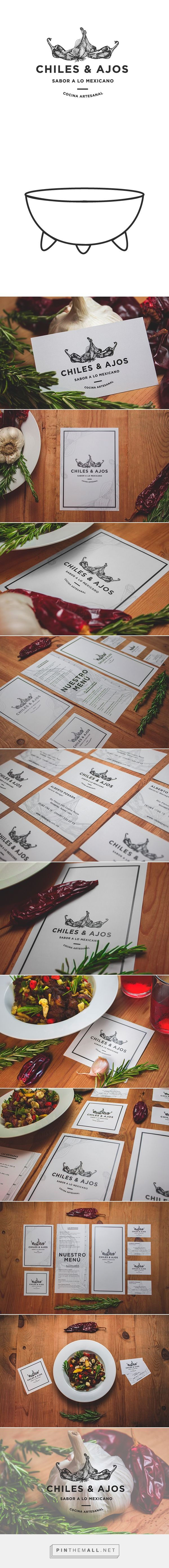 CHILES & AJOS | Restaurant Branding on Behance - created via http://pinthemall.net